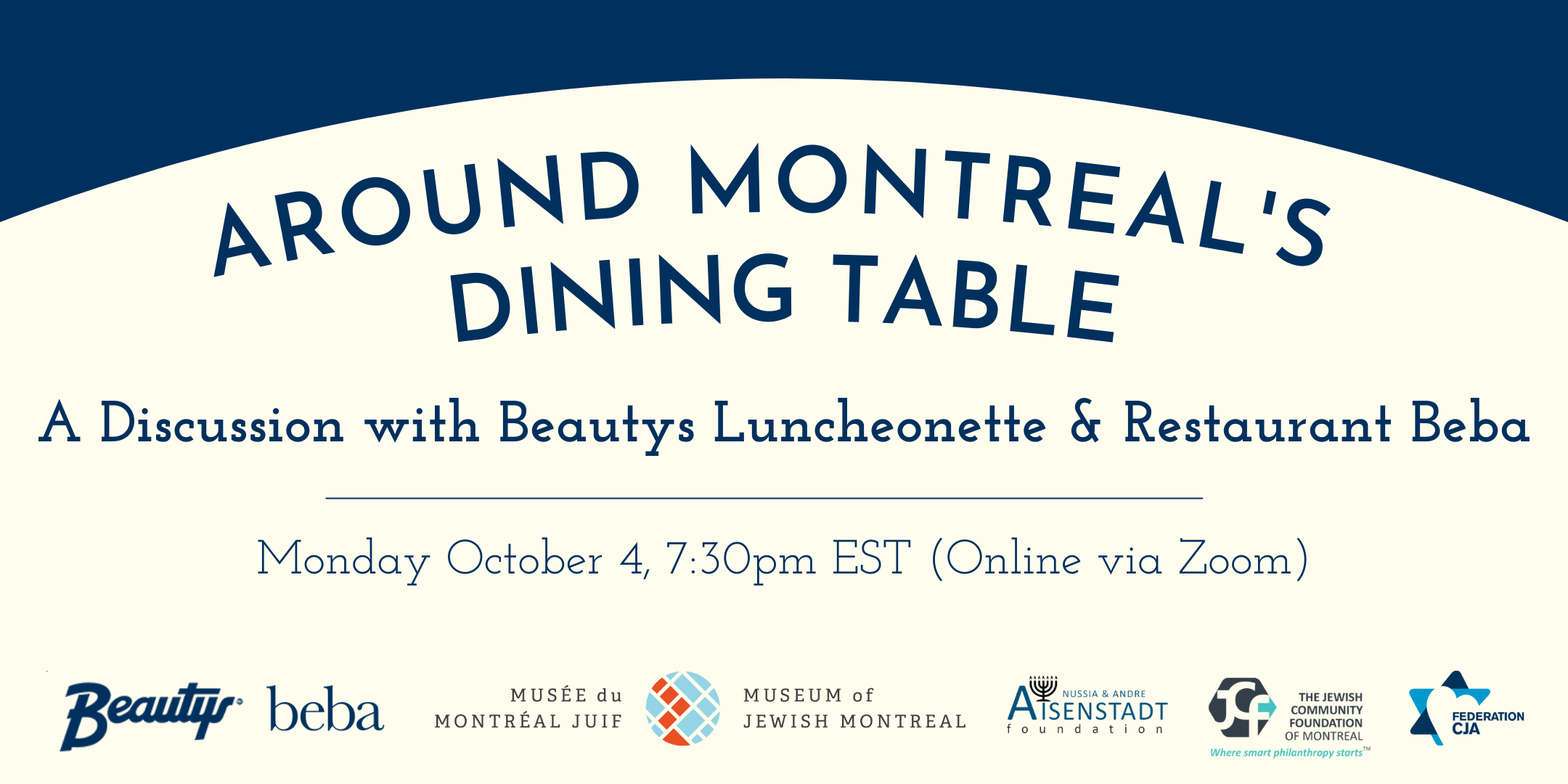 Around Montreal's Dining Table banner